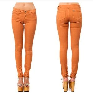 RVCA Falcor orange skinny pant